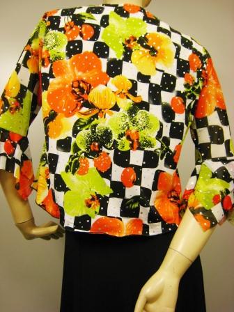 社交ダンス衣装 ダンス衣装 ダンスウェア 貼りスパンプリントドレープトップス オレンジ系