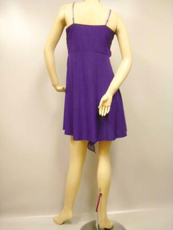 社交ダンス 衣装 ラテン ミニドレス パーティー ワンピース キャミソールミニドレス  紫
