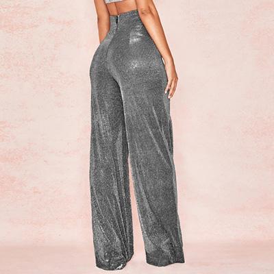 ジャズダンスパンツ衣装や舞台衣装のラメ地ワイドフレアーパンツ|23026