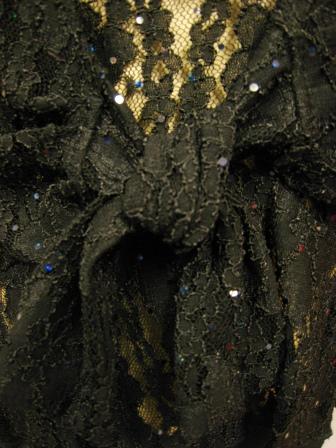 ボレロ風レース貼りスパントップス(TOBW13436)黒