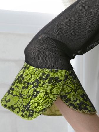 社交ダンス 衣装 カラオケ ブラウス レディースウェア メッシュレース切り替えジルコントップス 黒カラシ