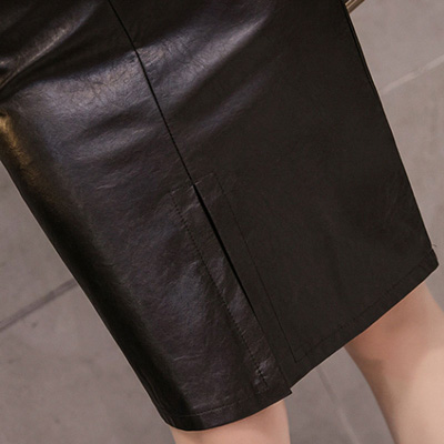 ジャズ ダンス スカート 合成皮革 フェイクレザー ステージ カラオケ セクシーフェイクレザータイトスカート ステージや普段のおしゃれにも最適 23127