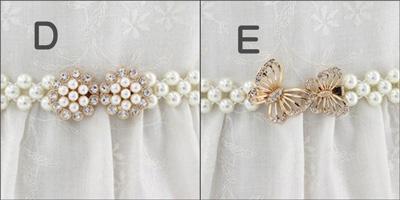 コーラス 衣装 ベルト 社交ダンス用品 結婚式 パーティー カラオケ衣装 ブローチバックルに真珠のゴムベルト 23136
