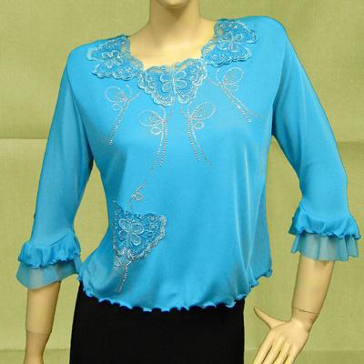 コーラス 衣装 ブラウス カタログ 無料 大正琴 演奏会 発表会  ゆったりサイズも揃う豪華なジルコンと刺繍のブラウス。MサイズとLサイズ 21972