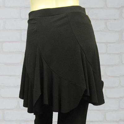 エスカルゴ六枚はぎのオーバースカート付パンツは、社交ダンス衣装のレッスン着に最適 31492