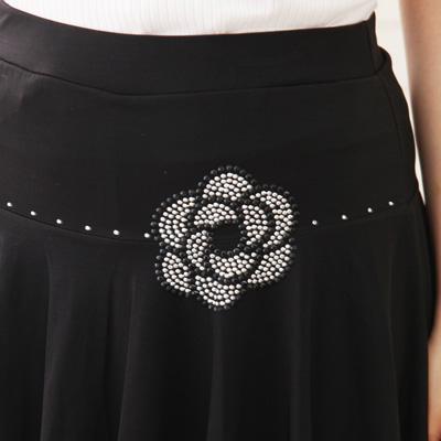 オーバースカート付パンツは、社交ダンス衣装のレッスン着に最適 31543