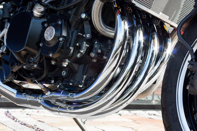 【受注後3ヶ月予定】 427 ショート管マフラー メッキ ▲サーキット専用:公道使用不可