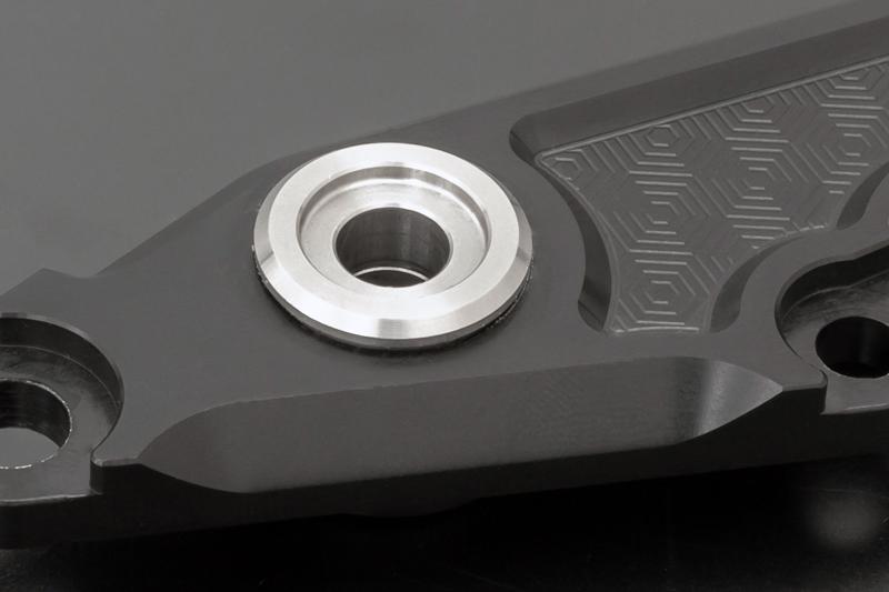 ビレット・ハニカム バックポジションキットType-2 (マットコークブラック) Z900RS