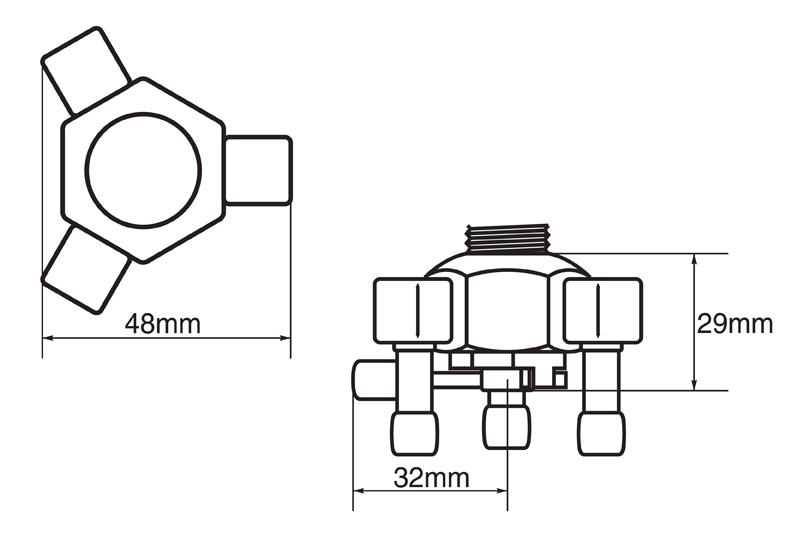 """【欠品中】トリプルアウト・レーシング (8000シリーズ・ネジ径:3/8""""NPT)"""