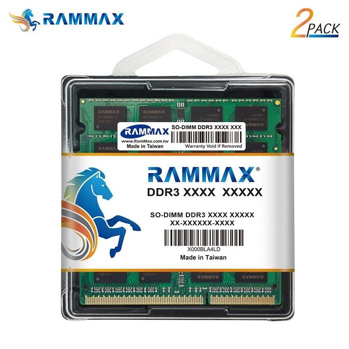 3854 RAMMAX RM-SD1600-D16GB (8GB 2枚組) DDR3 1600 (PC3-12800) 16GB Dual 1.35V/1.5V両対応