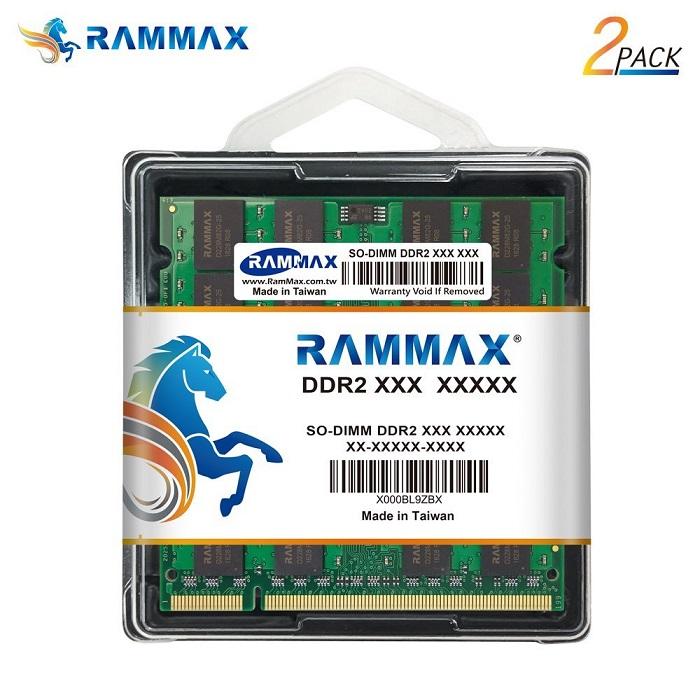 5038 RAMMAX RM-SD800-D2GB (1GB 2枚組)DDR2 800 (PC-6400) 2GB Dual
