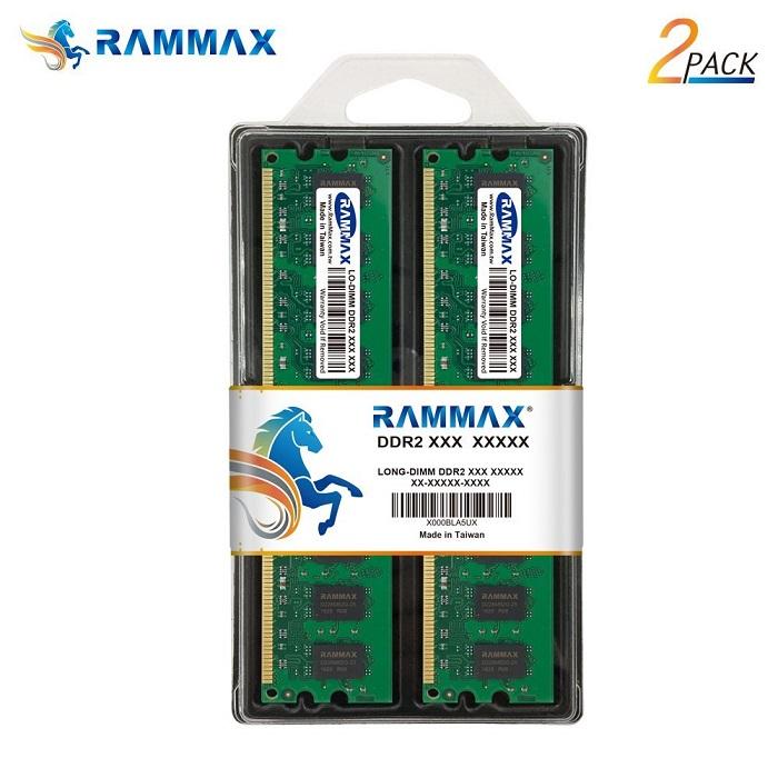 2987 RAMMAX RM-LD800-D4GB (2GB 2枚組) DDR2 800 (PC-6400) 4GB Dual