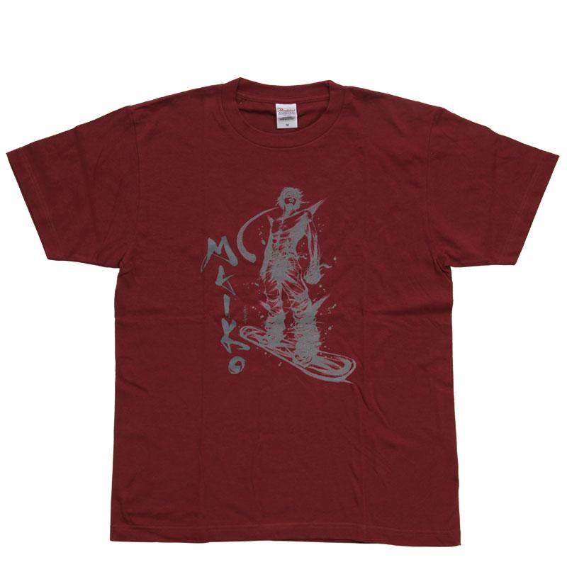 【舞子スノーリゾート】MAIKO オリジナルTシャツ Burgundy