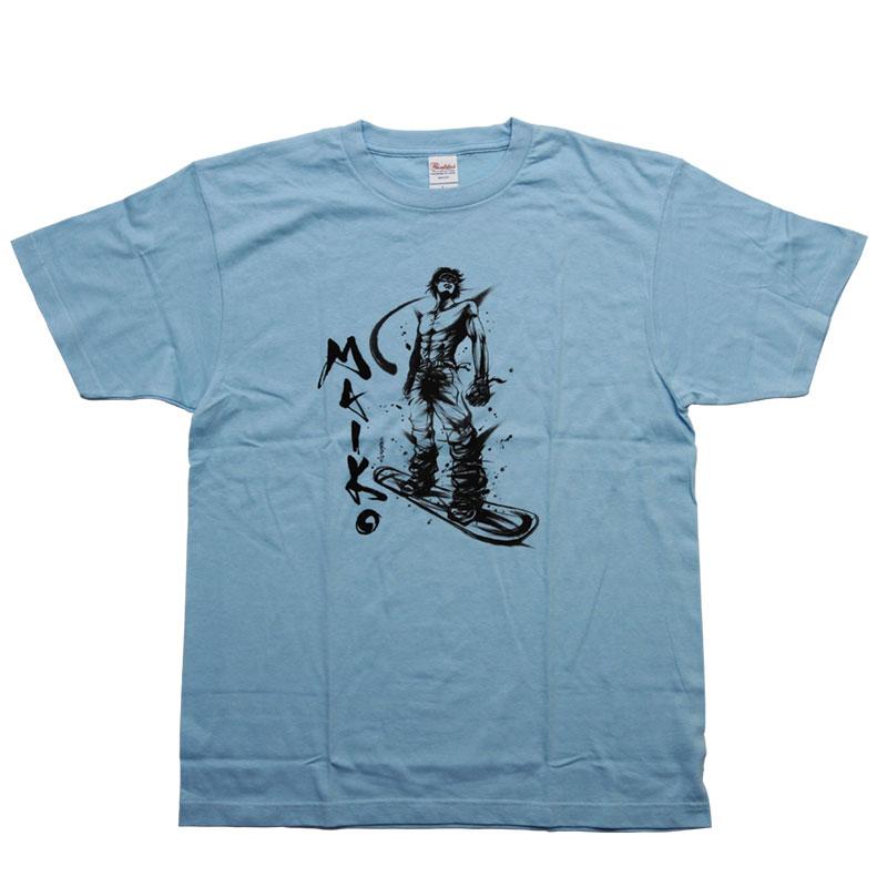 【舞子スノーリゾート】MAIKO オリジナルTシャツ L.Blue
