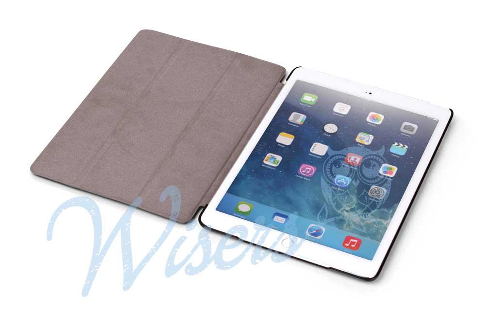 【タッチペン・フィルム付】 wisers Apple iPad Air 2 タブレット 専用 スリム ケース カバー ブラック [2014年 新型]