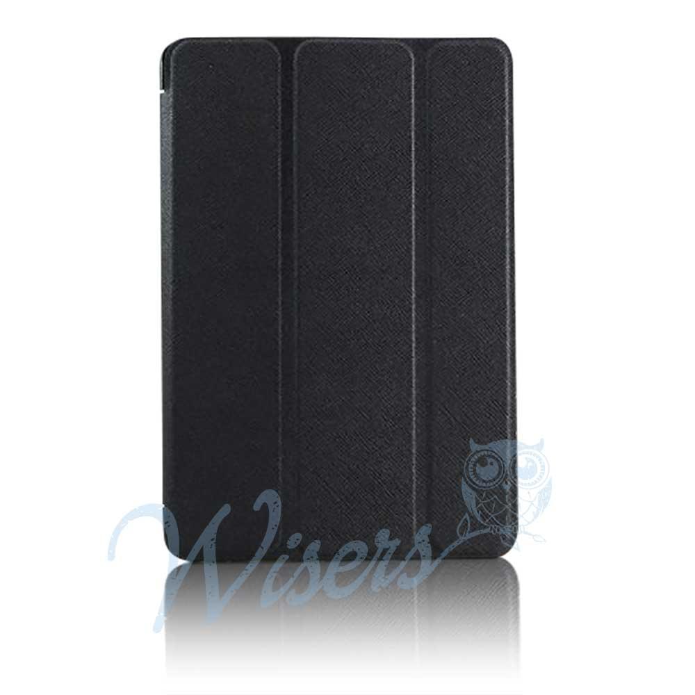 【タッチペン・フィルム付】 wisers Apple iPad mini 3 タブレット 専用 スリム ケース カバー ブラック [2014年 新型]