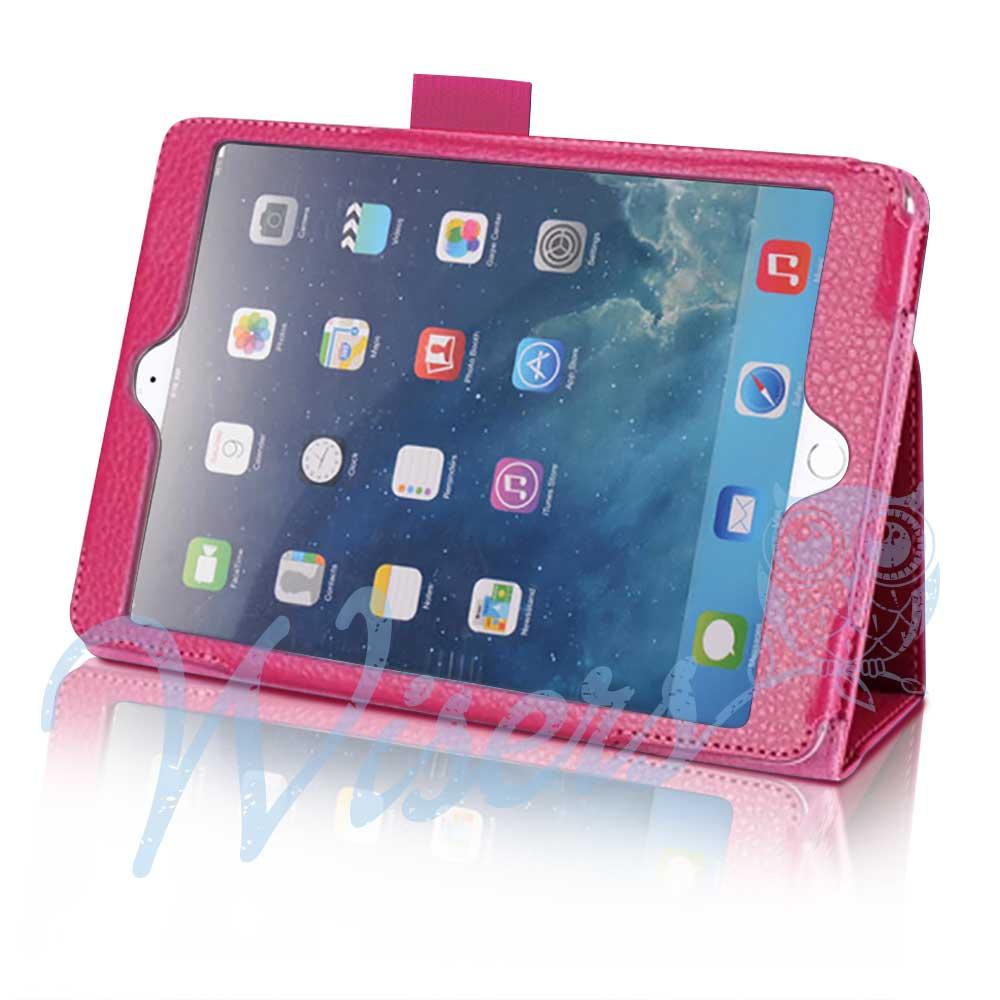【タッチペン・フィルム付】 wisers Apple iPad mini 3 タブレット 専用 ケース カバー [2014年 新型] 全3色 ブラック・ダークブルー・ピンク