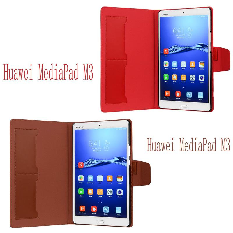 wisers Huawei MediaPad M3 BTV_DL09A BTV_DL09B BTV_W09 8.4インチ タブレット 専用 フロントスタンド タイプ ケース カバー [2016 年 新型] 全10色 ブラック・ホワイト・ダークブルー・スカイブルー・ピンク・ライトピンク・レッド・ブラウン・オレンジ・ゴールド