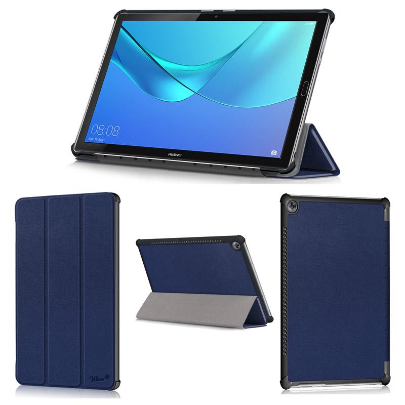 wisers Mediapad M5 10 Mediapad M5 Pro CMR-W19 専用 超薄型 スリム Huawei 10.8 インチ タブレット ケース カバー [2018 年 新型] 全4色 ブラック・ダークブルー・ローズゴールド・ゴールド