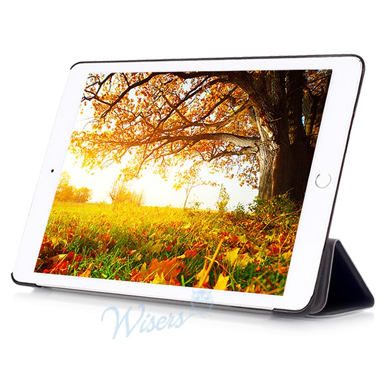 wisers Apple iPad Pro タブレット 12.9インチ 専用 超薄型 スリム ケース カバー 全4色 ブラック・ダークブルー・スカイブルー・ピンク