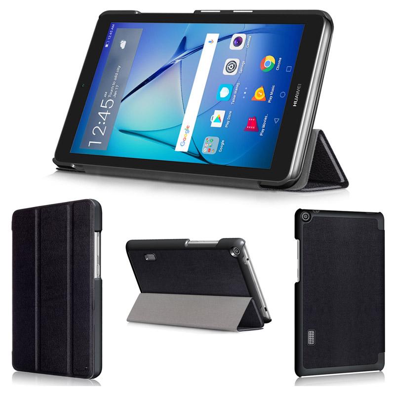 【フィルム付】 wisers Huawei MediaPad T3 7 BG02-W09A 7.0インチ タブレット 専用 超薄型 スリム ケース カバー [2017 年 新型] 全5色 ブラック・ダークブルー・スカイブルー・ローズゴールド・ゴールド