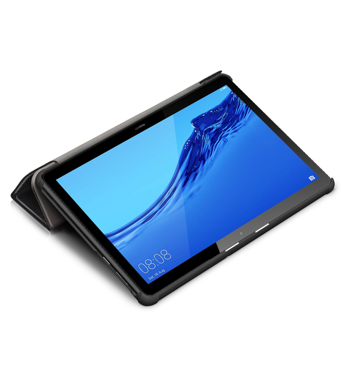 wisers Mediapad T5 10 専用 超薄型 スリム J:COM AGS2-W09 にも対応 Huawei 10.1 インチ タブレット ケース カバー [2018 年 新型] 全4色 ブラック・ダークブルー・スカイブルー・ローズゴールド