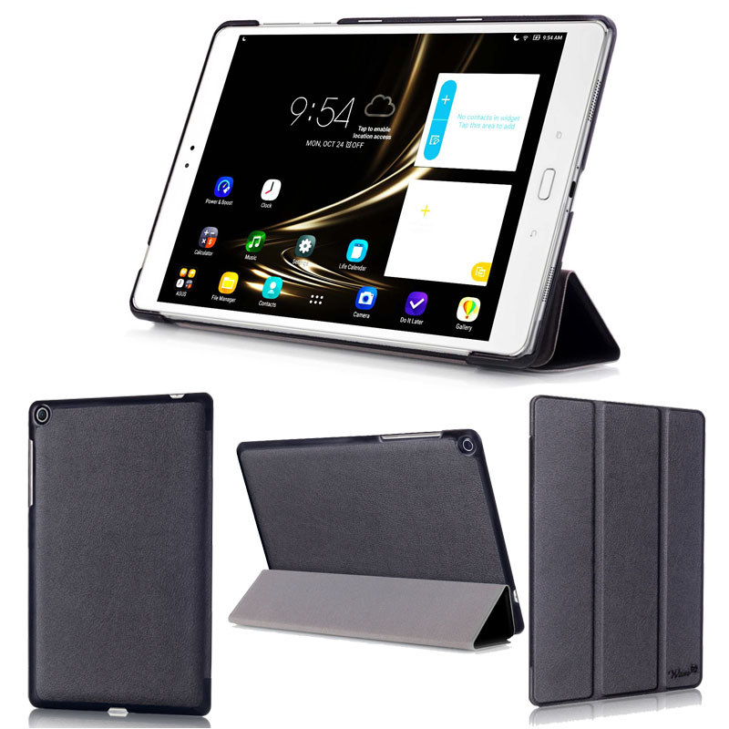 wisers ASUS ZenPad 3S 10 Z500M 9.7インチ タブレット 専用 超薄型 スリム ケース カバー [2016 年 新型] 全6色 ブラック・ホワイト・ダークブルー・スカイブルー・ピンク・ゴールド