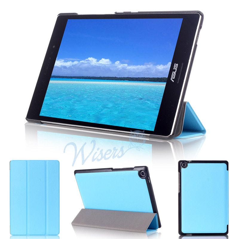 【タッチペン付】 wisers ASUS ZenPad S 8.0 Z580CA タブレット 専用 超薄型 スリム ケース カバー 全4色 ブラック・ダークブルー・スカイブルー・ピンク