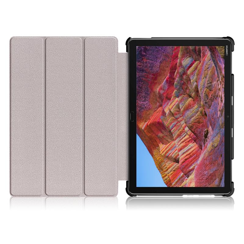 wisers スリムタブレットケース Mediapad M5 lite  10.1 インチ Huawei 専用 超薄型 スリム  タブレット ケース カバー [2018 年 新型] 全4色 ブラック・ダークブルー・スカイブルー・ローズゴールド