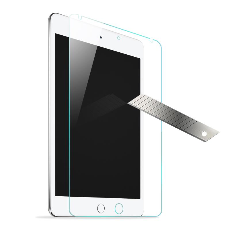 wisers ガラスフィルム Apple iPad mini 4 専用 強化ガラス 液晶 保護 ガラス フィルム、耐衝撃、表面硬度9H、指紋・汚れ防止コート、スムースタッチ、0.3mm
