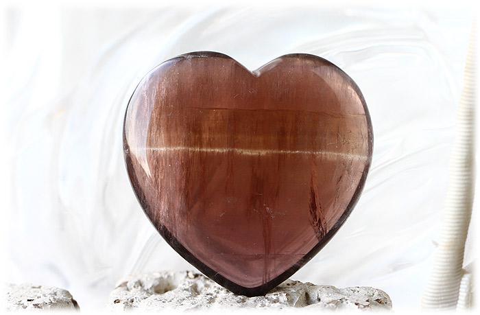 ブラウンフローライトハートストーン【石のサイズ40×40×13mm】02