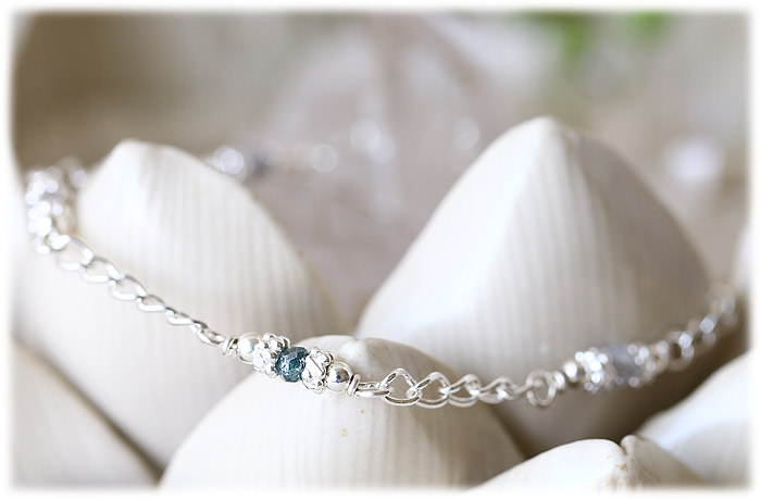 ブルーダイヤモンド&ダイヤモンド ピンブレスレット
