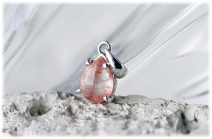 ストロベリークォーツペンダント【Silver925】【石のサイズ7×5.5×2mm】02