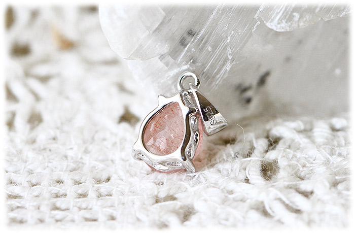 ストロベリークォーツペンダント【Silver925】【石のサイズ7.5×6×2mm】04