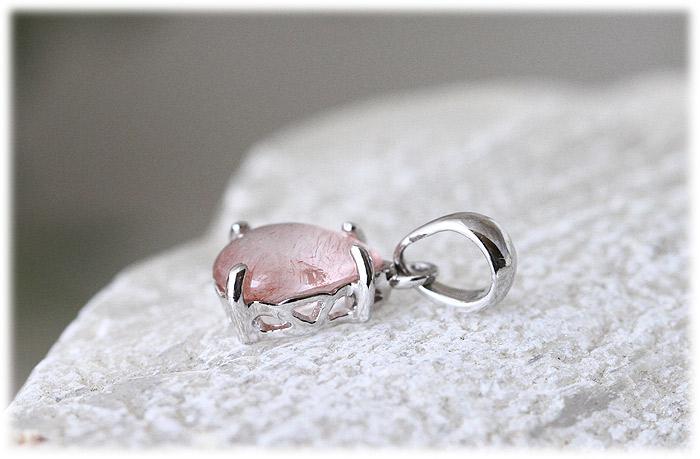 ストロベリークォーツペンダント【Silver925】【石のサイズ7.5×6×2mm】05