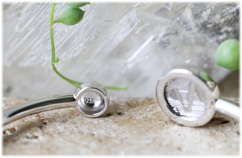 ギベオン六芒星バングル(シルバー)【01】石のサイズ12mm【Silver925】