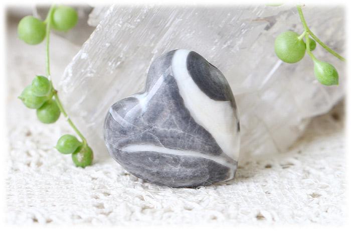 シェルジャスパーハートストーン【石のサイズ30×30×14mm】02