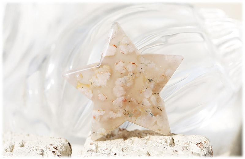 サクラ瑪瑙お星さま【01】石のサイズ46×12mm
