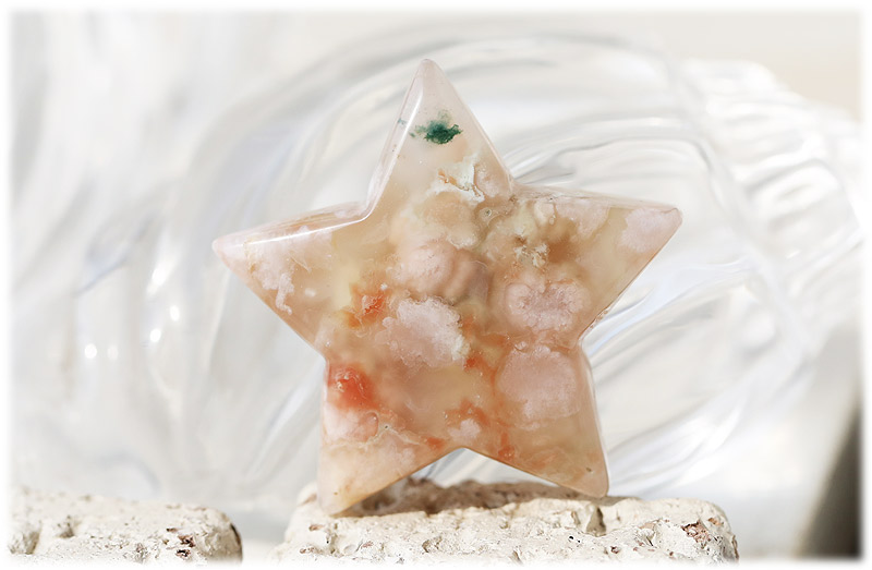 サクラ瑪瑙お星さま【02】石のサイズ50×14.5mm
