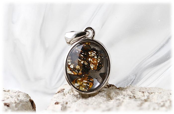 パラサイト隕石ペンダント【Silver925】【石のサイズ12×10×5mm】04
