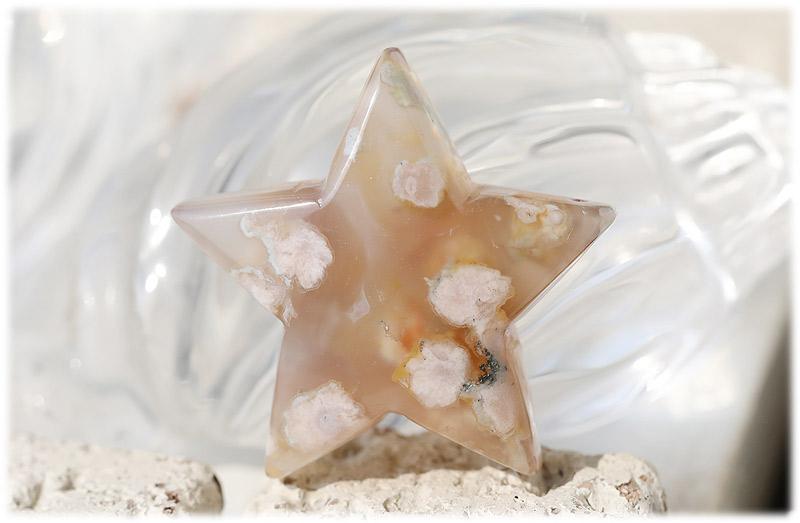 サクラ瑪瑙お星さま【04】石のサイズ52×18mm