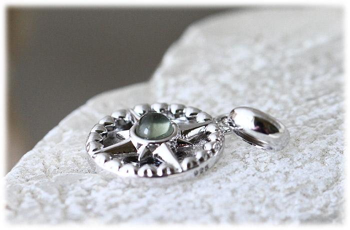 ギベオン&モルダバイトペンダント【Silver925】【石のサイズ10mm・3mm】02