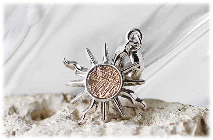 ギベオンペンダント【ローズゴールドメッキ】【Silver925】【石のサイズ4.5mm】04