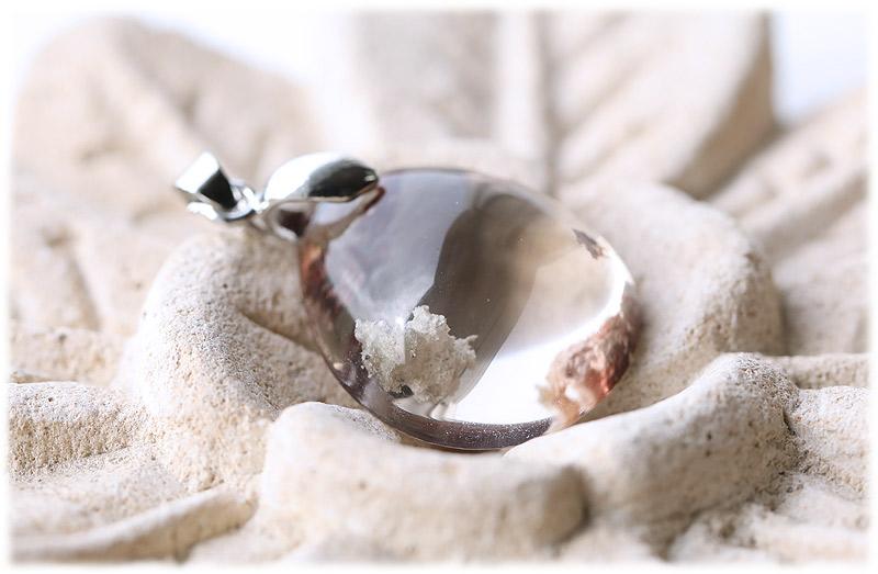 スモーキーガーデンクォーツペンダント【01】【Silver925】石のサイズ21×19×10mm