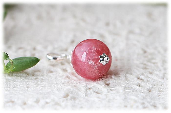 インカローズチャーム【Silver925】【石のサイズ12.5mm】01
