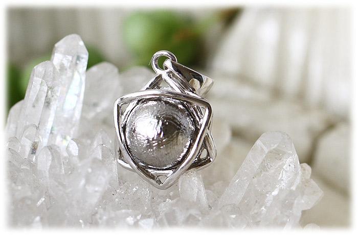 ギベオンペンダント【Silver925】【石のサイズ8mm】01