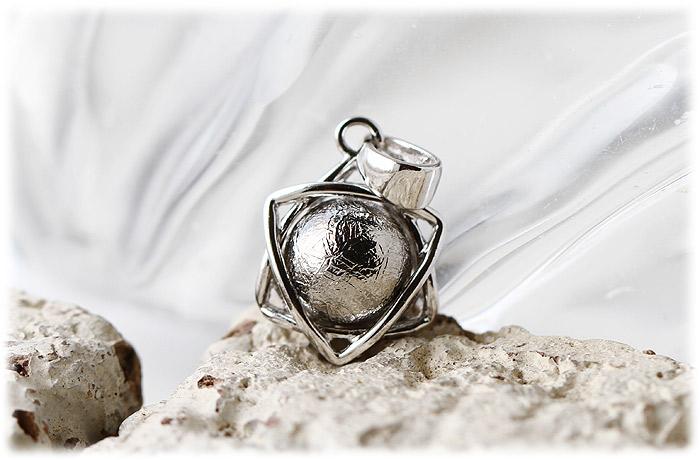 ギベオンペンダント【Silver925】【石のサイズ8mm】02