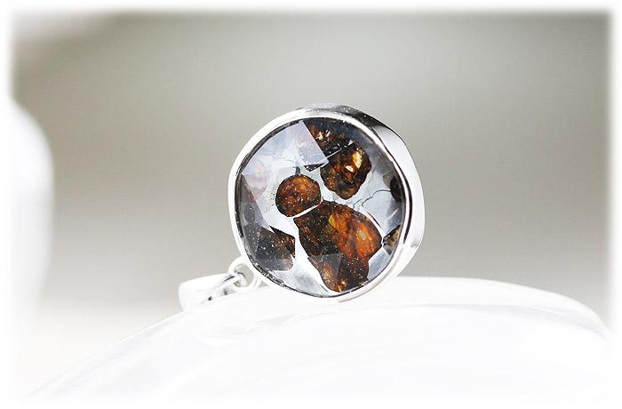 パラサイト隕石ペンダント【07】【クリスタル六芒星】【Silver925】石のサイズ15×7mm