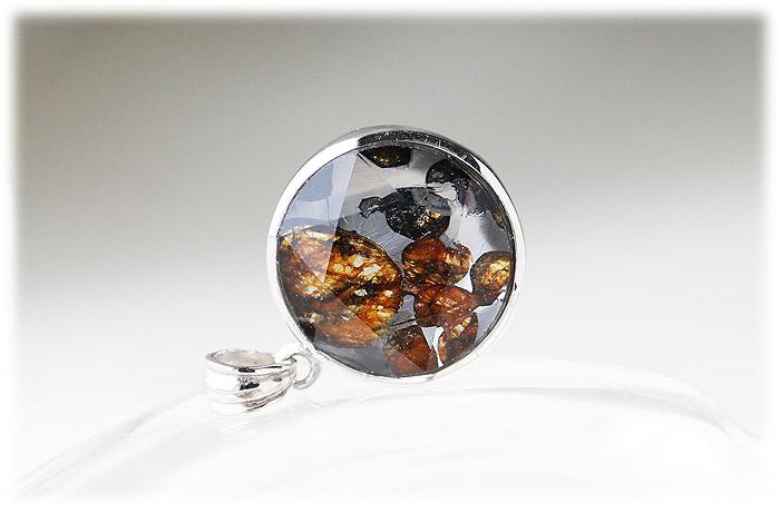 パラサイト隕石ペンダント【08】【クリスタル六芒星】【Silver925】石のサイズ15×7mm