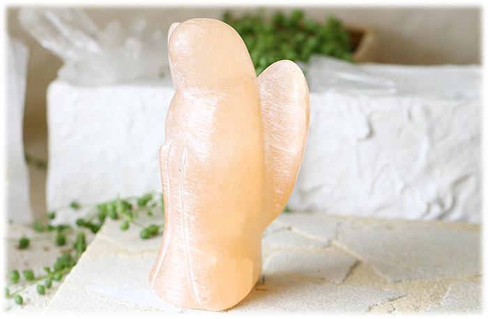 オレンジセレナイトエンジェル【石のサイズ151×100×68mm】